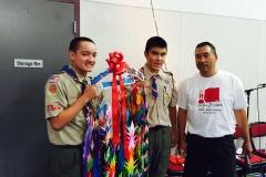1000 Cranes Presented to Troop 50 Boy Scouts